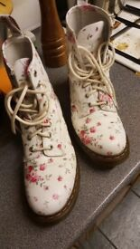 Rose soft leather dr martens boots