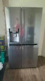 Chrome fridge freezer