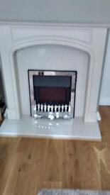 Electric Fire, surround, hearth and backplate