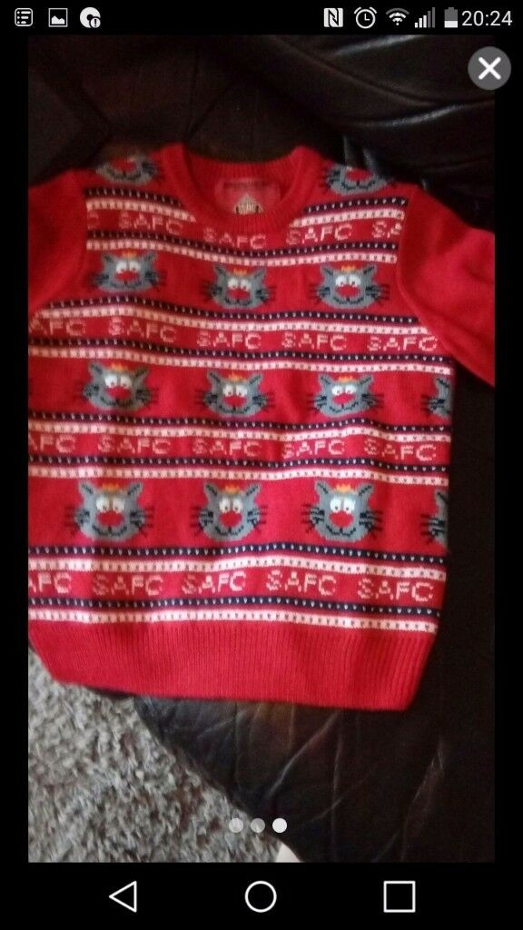 CHRISTMAS JUMPER. Sunderland afc