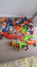 Bundle of nurf guns.