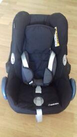 Maxi-Cosi Pebble Group 0+ Baby Car Seat, Black Raven + iCandyUpper Adaptors