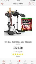 Rock band 4 band in the box Xbox one
