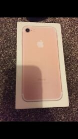 Iphone 7 256gb rose gold ee