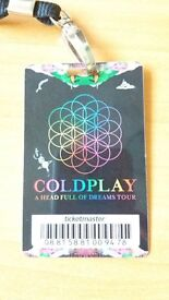 Coldplay Ticket for 12th July 2017