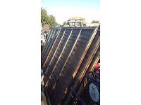 wavy fences panels 5 ft 6 ins tall x 13