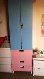 Ikea kids stuva wardrobe