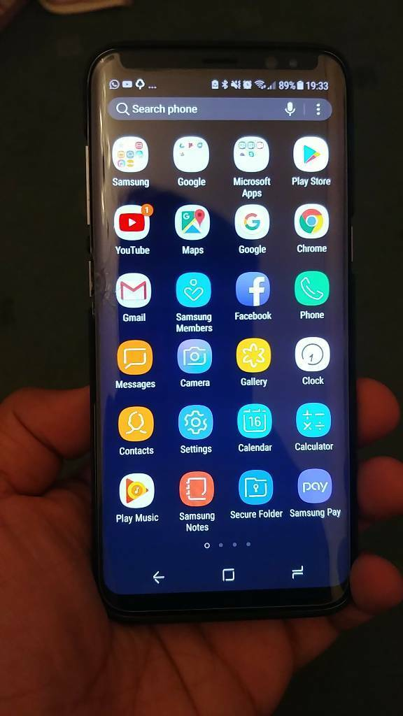 Samsung galaxy S8 cracked screen