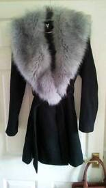 Faux fur coat from very size uk 12