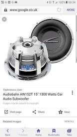 Audiobahn subwoofer sub 15 inch