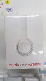 Beats by Dre Solo 3 Wireless Headphones - White Brand New Sealed