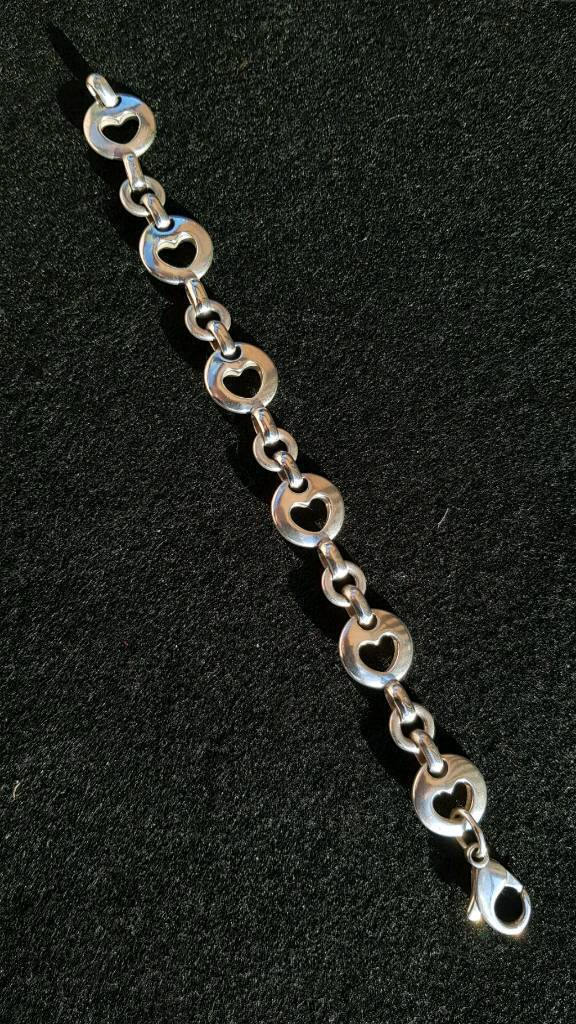 a4a1ded1f20e9 Tiffany & Co. Sterling Silver Stencil Cutout Heart Bracelet | in Perth,  Perth and Kinross | Gumtree