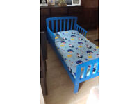 Wooden Child's bed with Mattress.