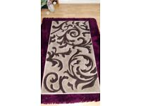 Rug Natural With Brown Pattern