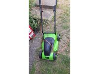 Rotary electric challenge lawnmower with grass box
