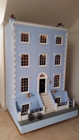 Georgian Style Furnished Dolls House - This is NOT a toy