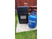 Portable gas heater with bottle