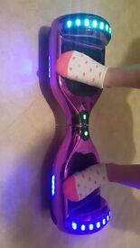 Purple chrome hoverboard