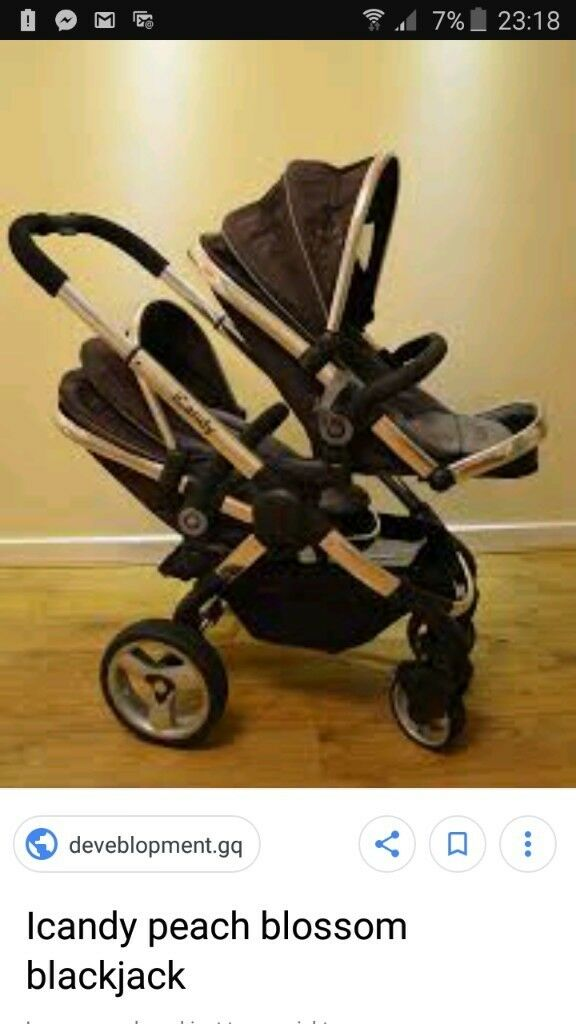 1b75904c57ad Icandy peach blackjack double pushchair