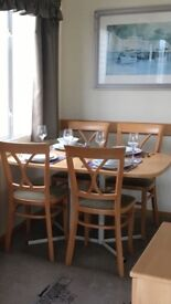 Good clean condition caravan table and 4 chairs