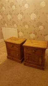 2x solid waxed pine units