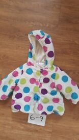 Girls coat / jacket size 6 to 9 months