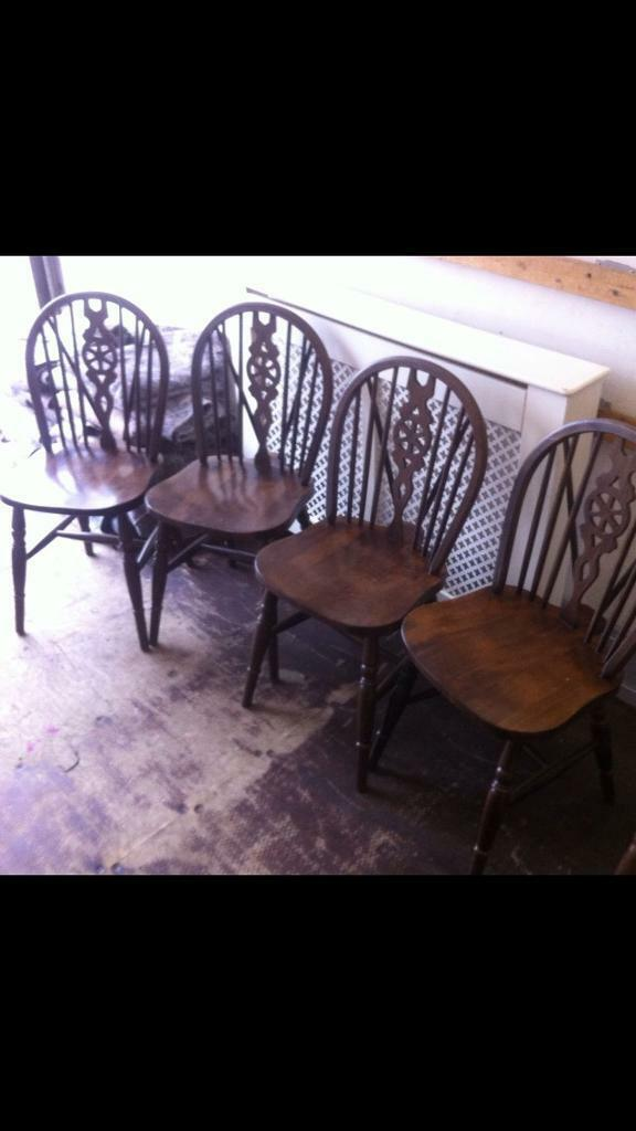 Country Style Dining Chairs x 6