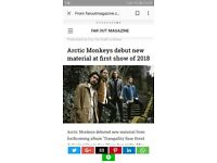 Arctic monkeys tickets to swap for 22nd September sheffield