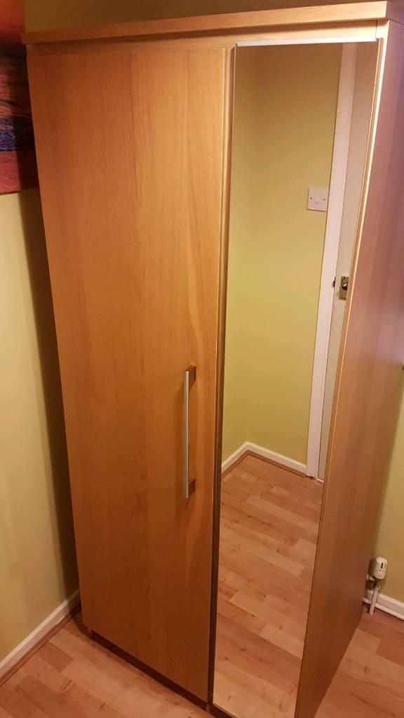 Ikea Wardrobe with mirror! Oak effect!