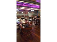 Good quality new and used furniture. Tables, chairs, stools, posers, fixed seating.