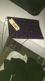 Sparkling purple bag