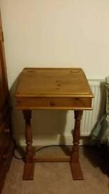 Unique solid wood writing desk