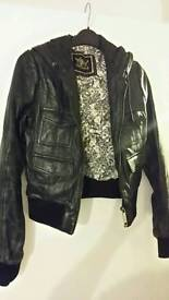 River Island real leather jacket uk 8