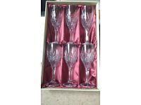 12 Galway Crystal - Kells Wine Goblet Glasses