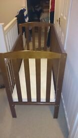 Space saving Cot with mattress for sale £65 or ONO