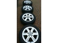 """16"""" Alloy Wheels for Audi A3 2011 complete with Four Michelin Tyres"""