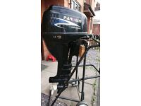 Parsun 15HP 4 stroke 2008 long shaft outboard engine motor on controls