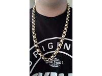 9ct gold belcher chain mint