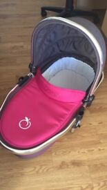 Pink/Grey iCandy Peach Carrycot