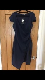 Size 16 navy dress. Boohoo brand new