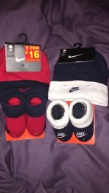 Baby Nike Hat and Booties