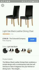 Leather dining chair BNIB