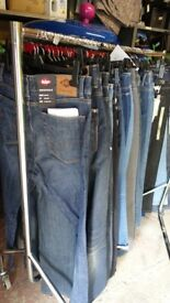BRANDED JEANS, CROSSHATCH,DUNNES,RINGSPUN etc 100 pcs AS SOLD ON HIGH ST