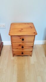 Pair of wooden bedside drawers
