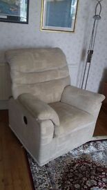 G Plan Malvern electric reclining armchair. Only 6 months old, unmarked.