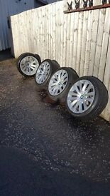 Genuine BMW 7 series alloy wheels with Run Flat tyres