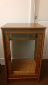 FRENCH GLASS WOODEN DISPLAY CABINET UNIT IN PERFECT CONDITION - GBP £10 - MUST GO - BARGAIN