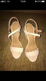 Size 7 cream high heels - Charlotte Russe
