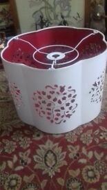 laura ashley lampshade lampshades pair of red and white ideal for christmad