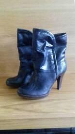 M&S Black boots - size 6